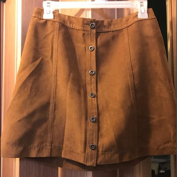 Hollister Dresses & Skirts - Hollister faux suede A line mini skirt